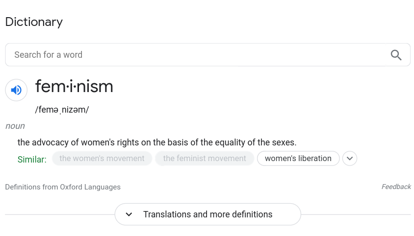 The Meaning Of Feminism